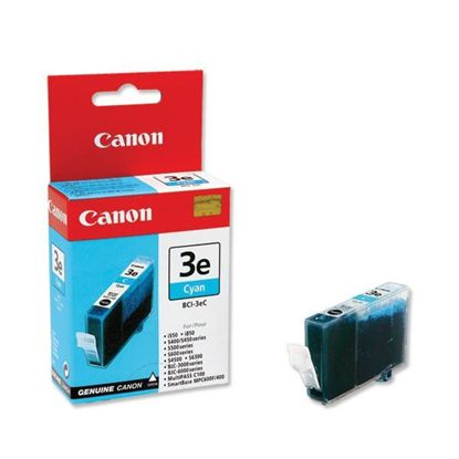 Зображення Картридж Canon BCI-3eС Cyan  для BJC-3000/6000/6100/6200/6500, BJ-i550/i850/i6500, S400/450/4500/500/520/600/630/6300/750, SmartBase MPC400/600F/MP700Photo/MP730